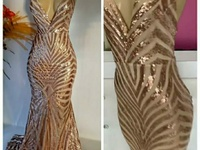 Rose gold mermaid dress- small