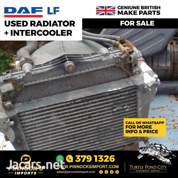 DAF LF USED RADIATOR AND INTERCOOLER