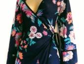 Cute kimono style wrap dress
