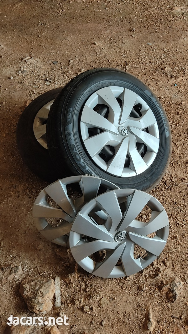Two wheels and hubcaps, sold individually or as full set