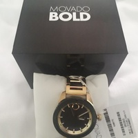 Unisex Movado bold gold watch