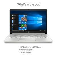 HP 14 inch Ryzen 3 4GB Ram 128GB SSD Laptop Silver