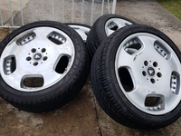 4 18in 5x112 Work Ryver Rims + Tyres