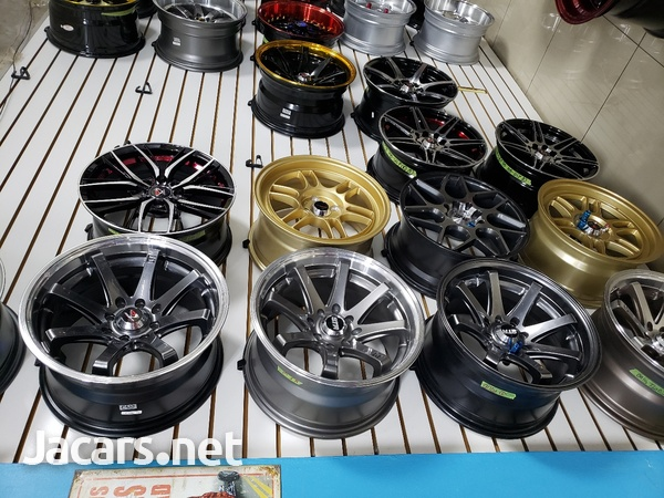 Rims, Diffuser, lugs, steering cover, back up camera, touchscreen radio, etc-6