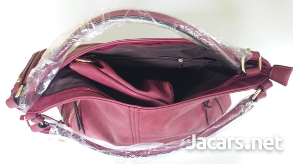 Women's Leather Handbag with Purse and Shoulder Strap for Business Work New-4