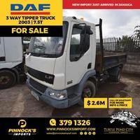 DAF 3 Way Tipper Truck 2003 7.5T