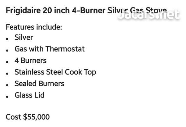 Brand New Frigidaire 20 inch 4-Burner Silver Gas Stove-2