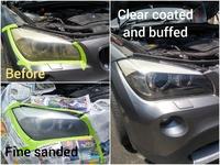 9H ceramic coating head lamp restoration