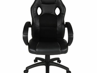 Black Five Star Leather High Back Executive Office Chair