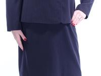 NWT Pinstriped Navy Tahari Skirt Suit sz 12 US