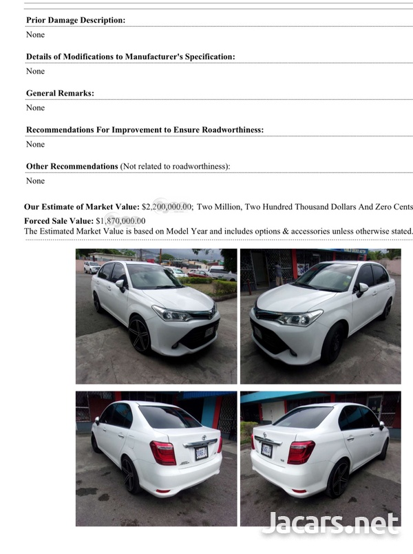 Toyota Axio 0,5L 2015-2