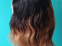 Human hair closure wigs