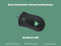 Razer DeathAdder Chroma RGB Gaming Mouse