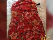 red floral dress