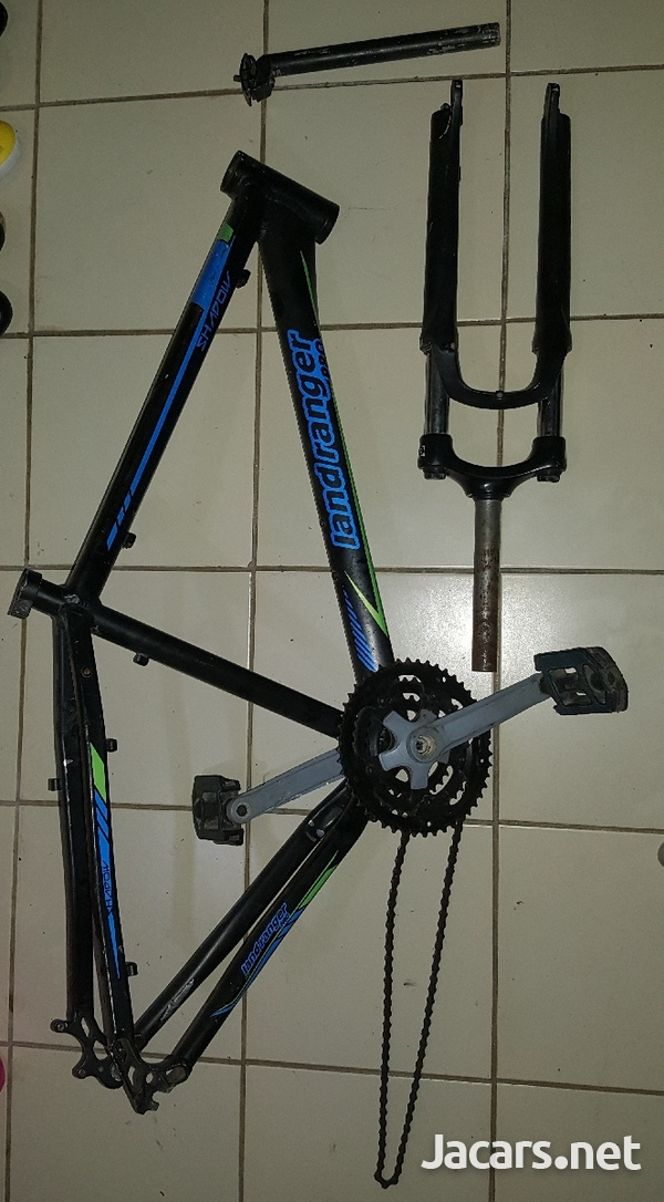 Bicycle frame, fork and seat pole.-4