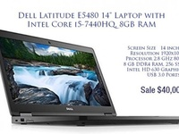 Dell Latitude 5480, quad core