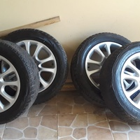 Aluminium stock rims and tires
