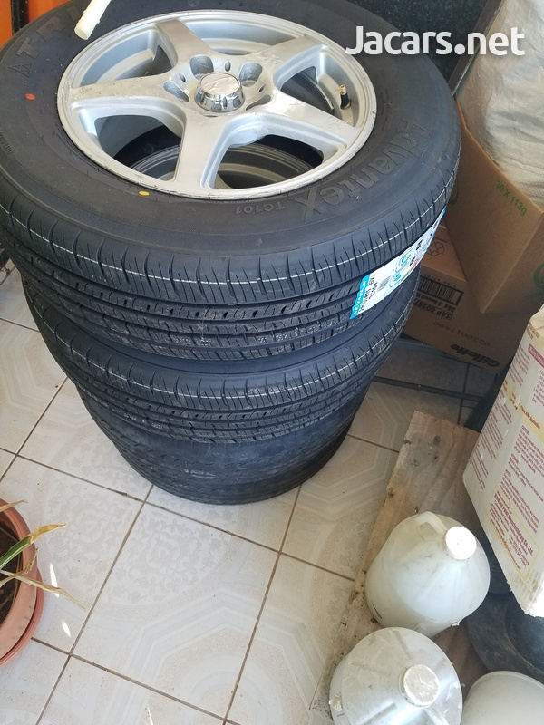 4 x 15 inch rim and tyre-1