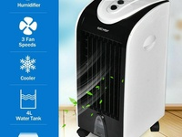 Portable Air Conditioner Cooler Fan, Evaporative Humidifier Filter Bed