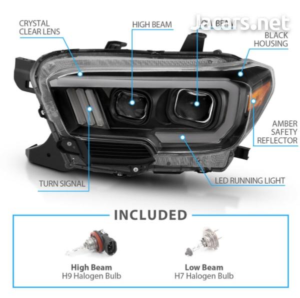 Toyota Tacoma TRD w/LED Bar Black Projector Headlights-2