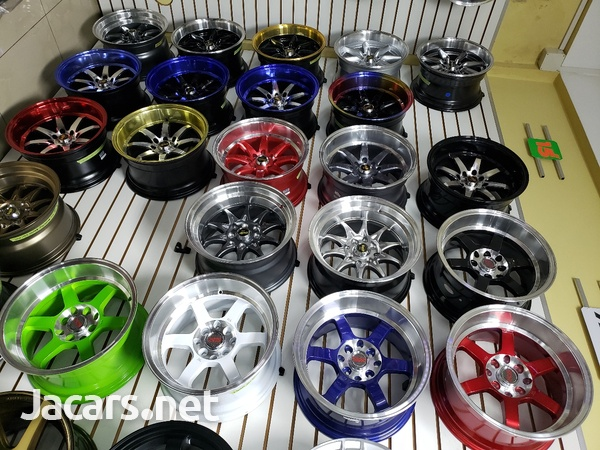 Rims, Diffuser, lugs, steering cover, back up camera, touchscreen radio, etc-5