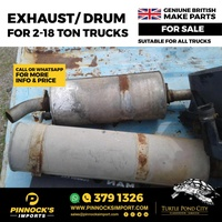 EXHAUST/DRUM FOR 2-18 TON TRUCKS