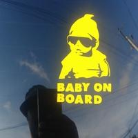 2x Custom 1 Color Vinyl Baby On Board Sticker