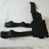 Universal Drop leg Pistol Holster Black/Right Handed.
