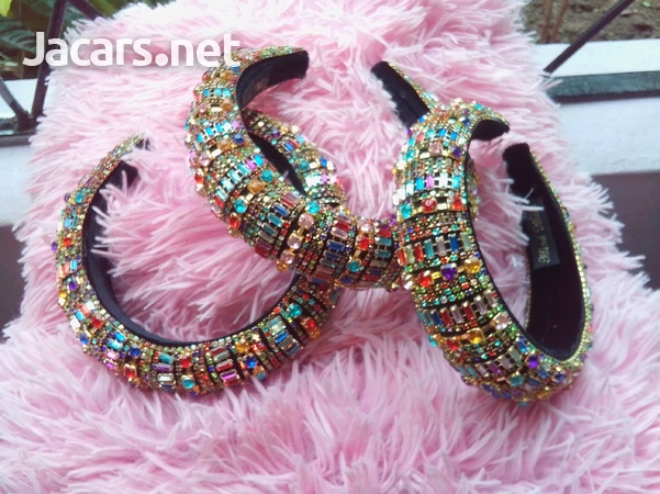 Trending rinestone padded headbands-1