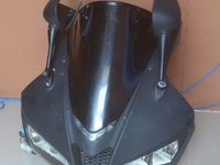 2007 to 2012 CBR 600rr Headlight, bullhead, mirror, speedometer clock.