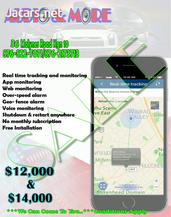 AUTO GSM GPS trackerand monitoring system Inclusive of installation