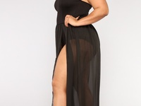 Plus size body suit with mesh skirt