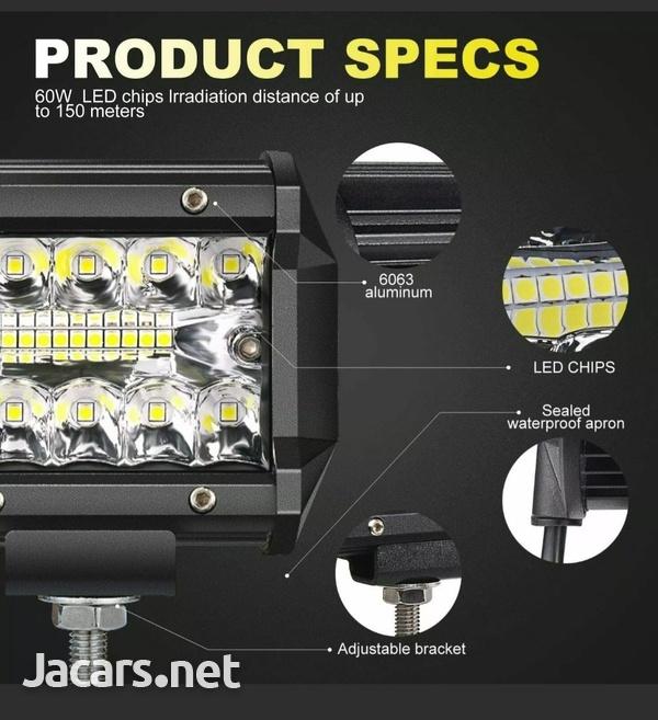 20inch Tri Row 420W LED Work Light Bar Flood-3