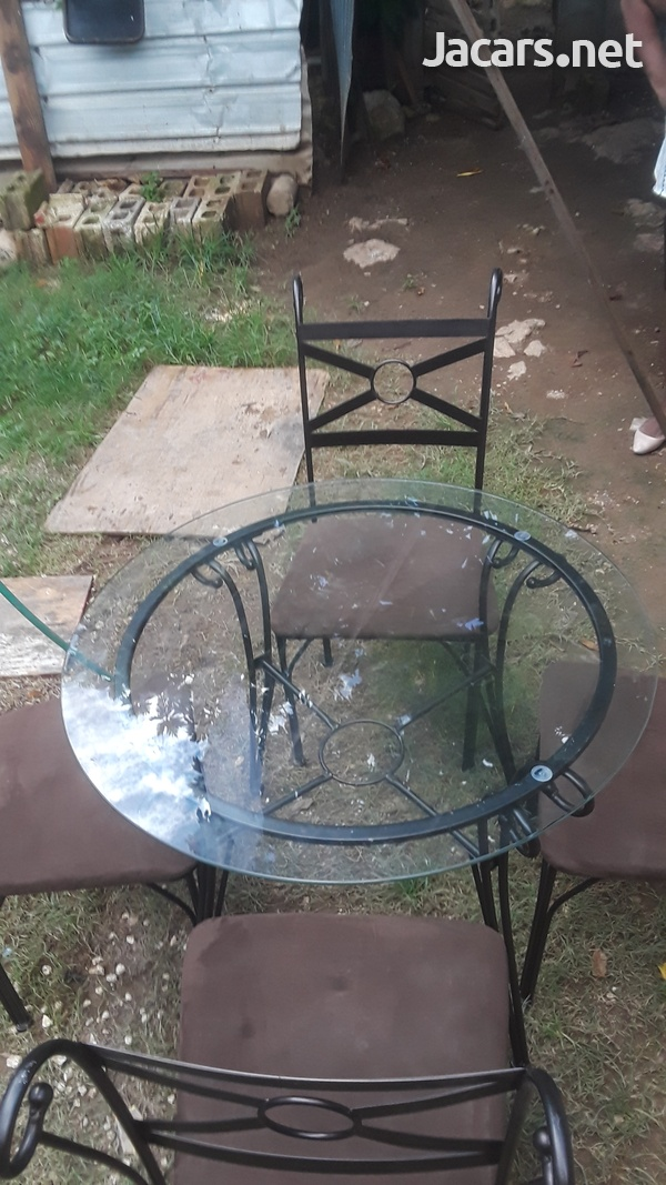 4 seater Glass Table-3