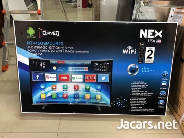 43 inches NEX AND BLUESONIC WIFI SMART LED T.V. CURVED-1