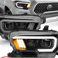 Toyota Tacoma TRD w/LED Bar Black Projector Headlights