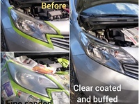 UV coating head lamp restoration service