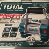 Total Tools Heavy Duty 12V Air Compressor Pump With LED Light