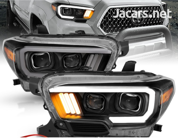 Toyota Tacoma TRD w/LED Bar Black Projector Headlights-1