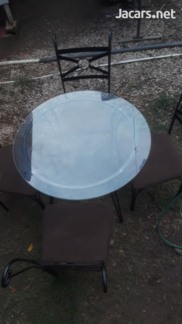 4 seater Glass Table-4