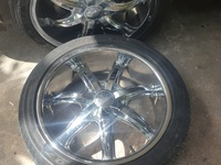 18 inch Chrome Rims With Tire.