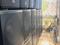 Complete sound system 12 Top end 12 Bass ready made boxes built in amp