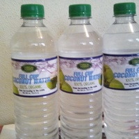 Real organic coconut water from the nut to bottle