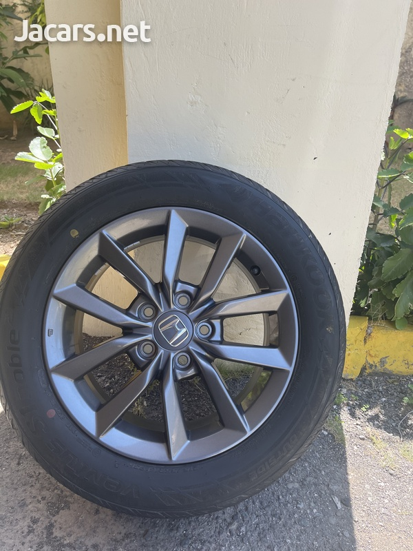 Stock Honda Rims and Tires 16in - only used for 3 days. 215/55R16 93H-4