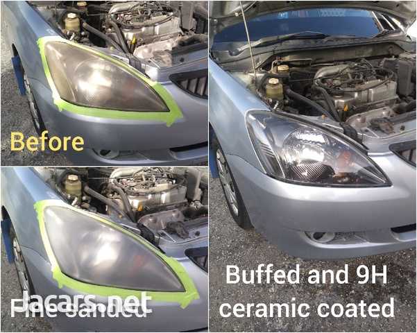 9H ceramic coating head lamp restoration-5