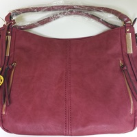 Women's Leather Handbag Wine Red New