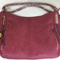 Women's Leather Handbag Wine Red New