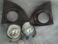 Pair of Toyota Axio fog lights and accessories