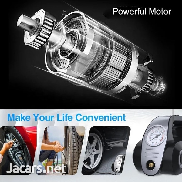 4 in 1 Portable Car Vacuum and Tyre Pump-3