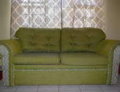 3 Piece Green Sofa Set